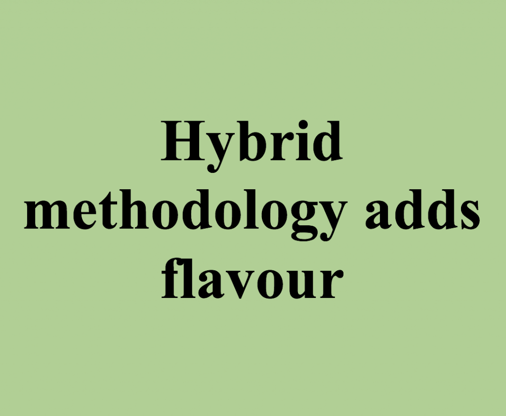 Spice up your insights: Hybrid methodology adds flavour